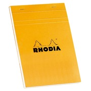 Schreibblock Rhodia orange geheftet 80 Seiten 5 x 5 n°16 Format 14,8 x 21 cm