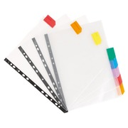 Viquel, set of 8 pocket dividers, polypropylene, A4, coloured tabs