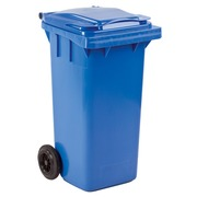 Coloured containers 2 wheels 120 liters blue