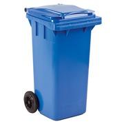 Gefärbte Container 2 Räder 120 Liter blau