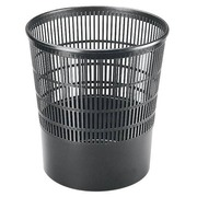 Papiermand Cep in plastic - zwart 16 L