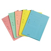 Pack of 25 index folders, assorted colours