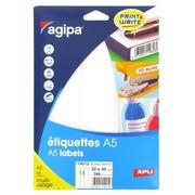 Doos 288 zelfklevende etiketten Agipa 114015 wit 32 x 40 mm laser en inkjet