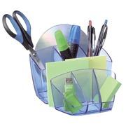 Pot à crayons Cep 6 compartiments - bleu