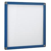 Outdoor information board, hinged door, aluminium frame, 12 sheets