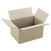 Carton Caisse américaine kraft brun simple cannelure L 25 x l 18 x H 15 cm