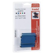 Blister of 3 ink cassettes for Trodat 4913 - blue