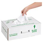 Doos van 120 voorgesneden poetsdoeken wit katoen