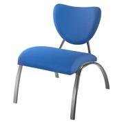 Low chair Aloha blue emerald undercarriage in alu