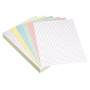Assortment colored index cards 148 x 210 mm checked 5 x 5 - Box of 100