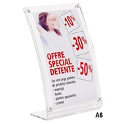 Counter display magnetic size A6 translucent