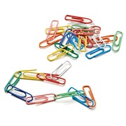 Box of 100 colored Safetool paperclips 26 mm assortment