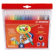 Stabilo Power, set of 18 coloured felt tip markers