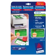 Carte de visite laser Avery Quick and Clean C32025 85 x 54 mm 220 gr blanche - Pochette de 250