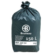 Box 100 plastic garbage bags 150 L superior quality