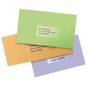 Pack 25 address labels Avery J 8567 210 x 297 mm for inkjet printer