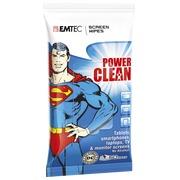 Lingettes Emtec Power Clean Superman pour écran - paquet de 50