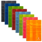 Notebook Clairefontaine spiral binding 100 pages 21 x 29,7 cm 5 x 5 assorted colors