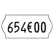 Rouleau 1500 étiquettes blanches 26 x 12 mm pour pince Kendo