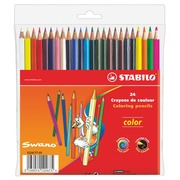 Crayon de couleur Stabilo Color couleurs assorties - Pochette de 24