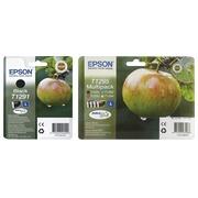 Epson big pack T1291 + T1295 1 cartouche noire + 1 multipack noir + couleur haute capacité pour imprimante jet d'encre
