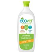 Fles 1 L afwasmiddel Ecover citroen en Aloë Vera