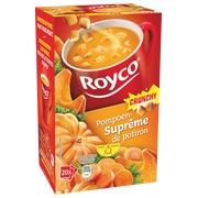 Doos van 20 zakjes Royco Minute Soup pompoen en korstjes