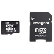 Memory card Integral SDHC with adapter 16 GB - class 10