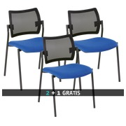Pack Yota Netzrücken Stuhl 2 + 1 gratis blau