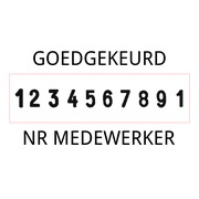 Trodat Professional 55510/PL Ziffernstempel
