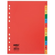 JMB set of monthly dividers, Dutch version, polypropylene, colour, A4