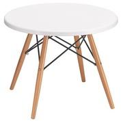 Lage ronde tafel Orea - tafelblad wit