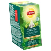 Box of 25 tea bags green tea intense mint