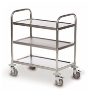 Trolley 3 trays stainless steel 18/0 - capacity 100 kg