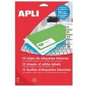 Etiquettes adresse jet d'encre, laser et copieur 70 x 25,4 mm Apli blanche - Boîte de 330