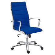Bureaustoel Milano stof blauw - Rug H 60 cm