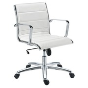 Chair Milano leather white - Back H 40 cm
