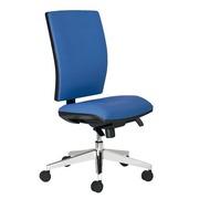 Bureaustoel met stoffen rug en zitting Bruneau Activ' blauw - Synchroon