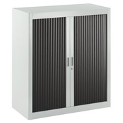 Union-Schrank mit demontierbarem Rollladen H 100 Schrank grau Rollladen schwarz