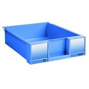Lot de 8 tiroirs hauteur 9 cm bleu