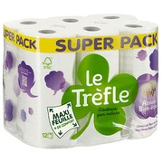 Toilet paper triple thickness absolute well being Le Trèfle - Pack of 36