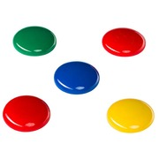 Magnets Budget - diameter Ø 30 mm assorted colors - pack of 6
