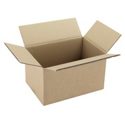Carton Caisse américaine kraft brun simple cannelure L 23 x l 19 x H 16 cm