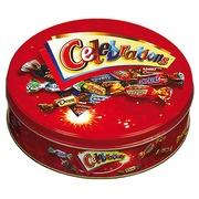 Chocolats assortiment Célébrations - Boîte métal 435g