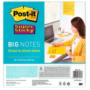 Big notes Super Sticky Post it 27,9 x 27,9 cm - geel - blok van 30 vellen