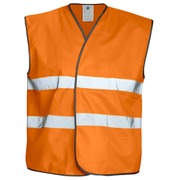 6703 VEST HV CL.2 Orange