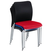Chair Bruneau Siracusa with black back and blue seat