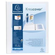 Personalisierbares Ringbuch aus PP 1,9mm, 2 Ringe 30mm, Rücken 47mm, 2 äußere Klarsichthüllen, 32x27,7,cm für DIN A4 Überbreite - Kreacover.