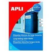 Ultra strong labels inkjet 210 x 297 mm Apli -white - pack of 10