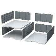 MODULODOC élément de base cases jumbo - Gris lumière/gris souris
